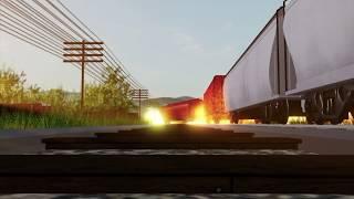 Roblox Acidente de trem