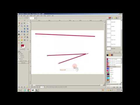 GIMP Quick Tips: Drawing Lines