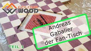 Andreas Gabalier Fan - Tisch, Epoxy table, Tisch mit Epoxidharz überziehen, Teil 1