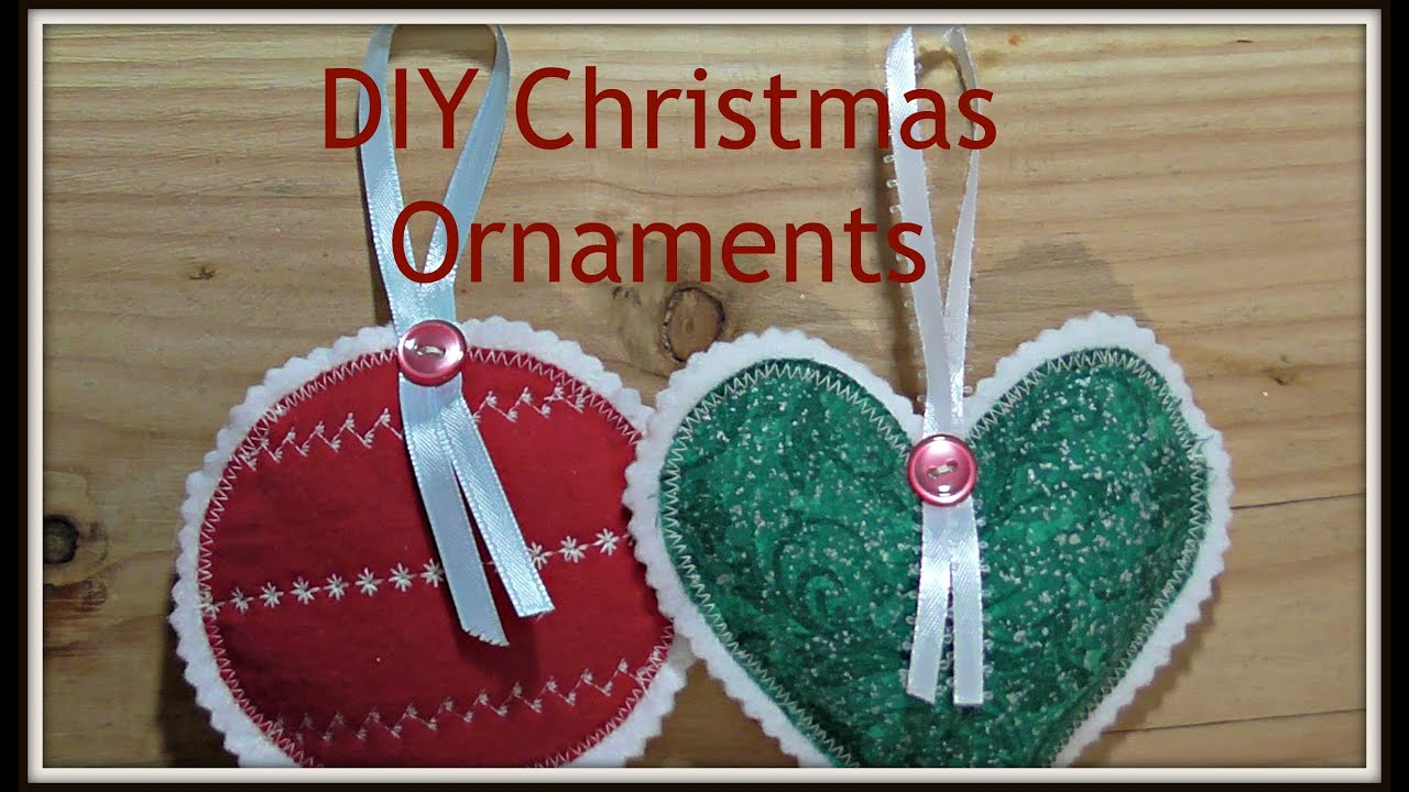 How to Sew Fabric Christmas Ornaments - YouTube