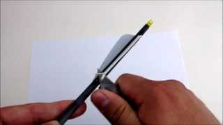 How to Remove Old Arrow Feltching or Vanes by MUDD CREEK