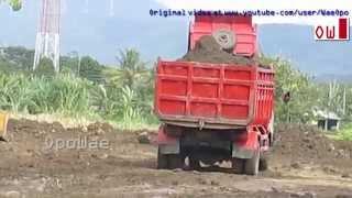 Toyota Dyna 130HT Dump Trucks Dumping Dirt