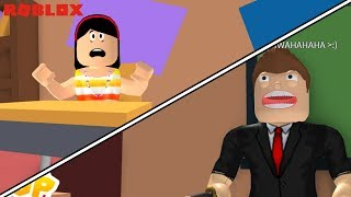 AUNT GRACE DIDN'T DO HOMEWORK!!! -ROBLOX (ESCAPE THE OBBY SCHOOL)