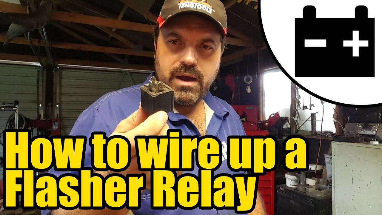 How To Wire Up A Flasher Relay 1927 Youtube Wiring Diagram For Car Unit