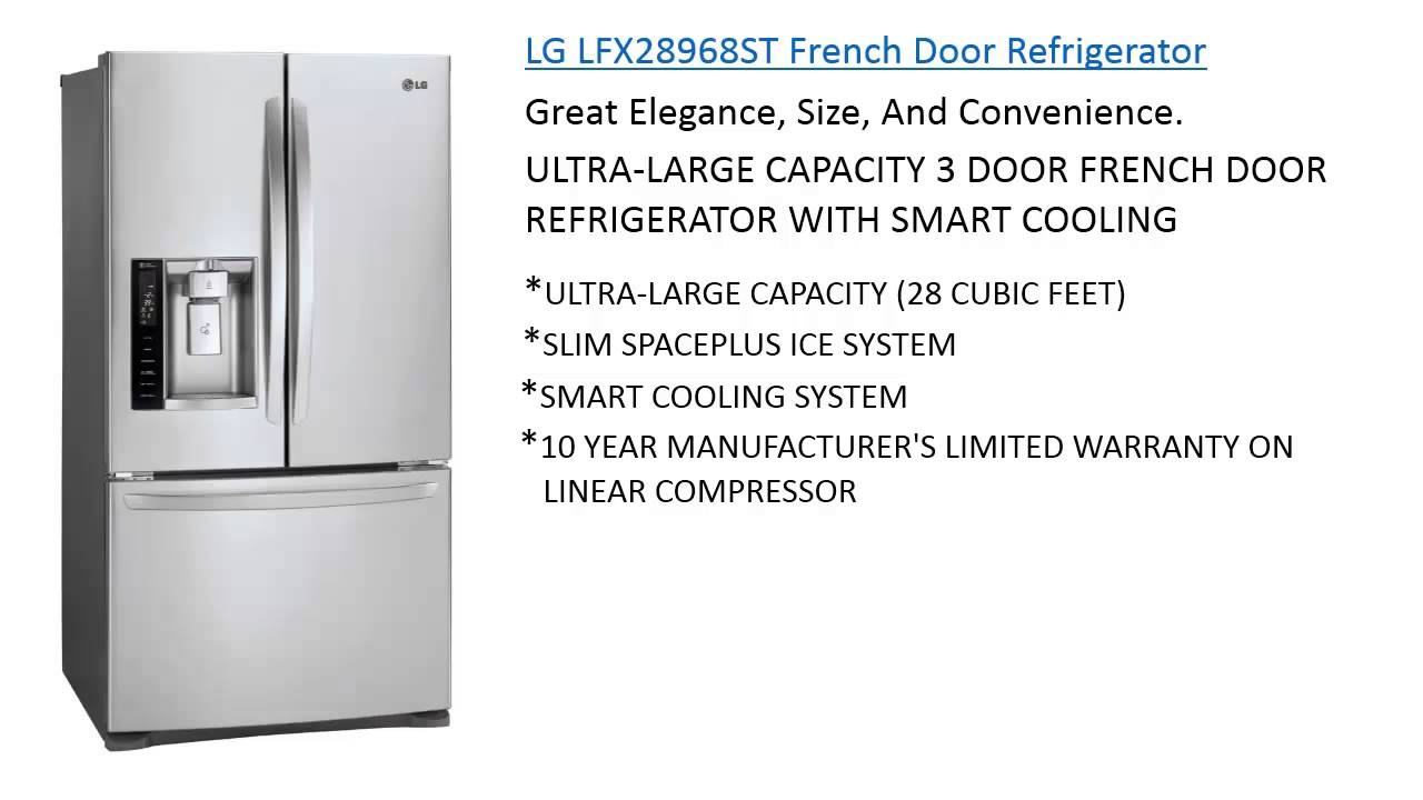 Lg Lfx28968st French Door Refrigerator Stainless Steel Refrigerators Reviews