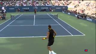 US Open 2009 Final: Juan Martin Del Potro vs Roger Federer Highlights Part 1