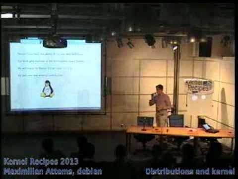 Maximilian Attems, debian - Distributions and kernel