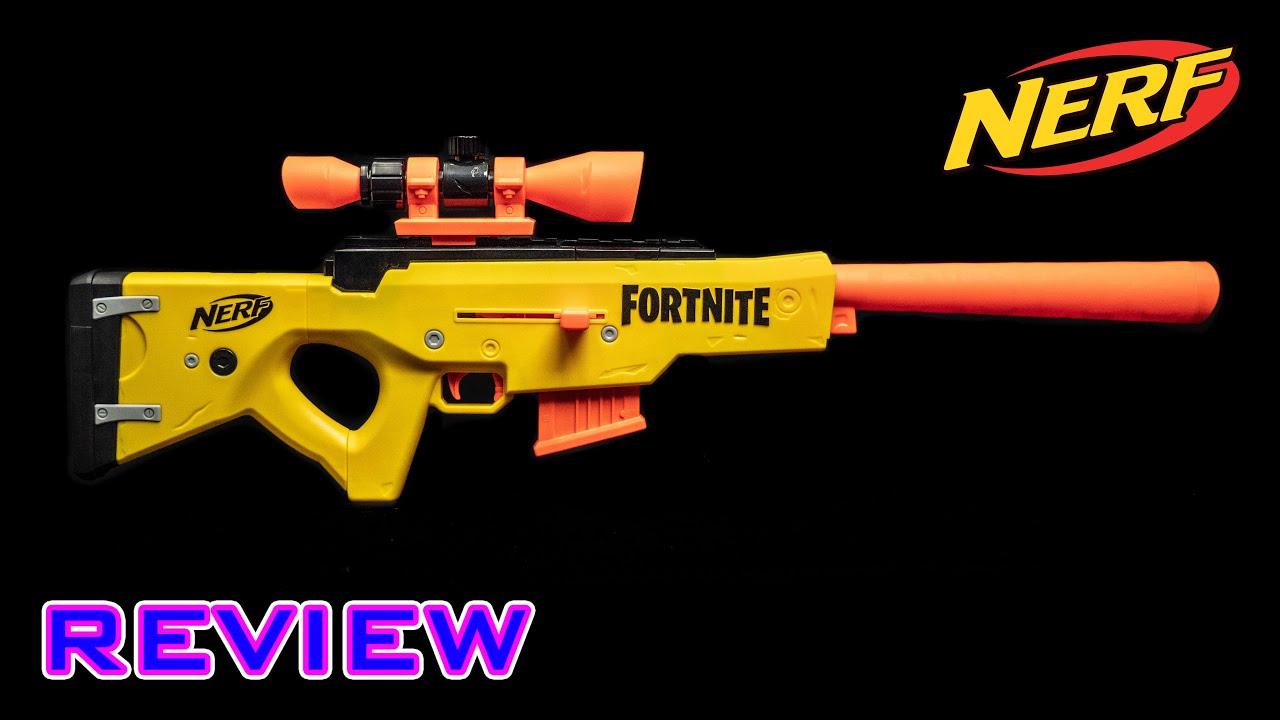 Review Nerf Fortnite Basr L Sniper Rifle Bros Youtube