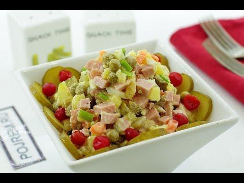 Как сделать оливье салат фото рецепт