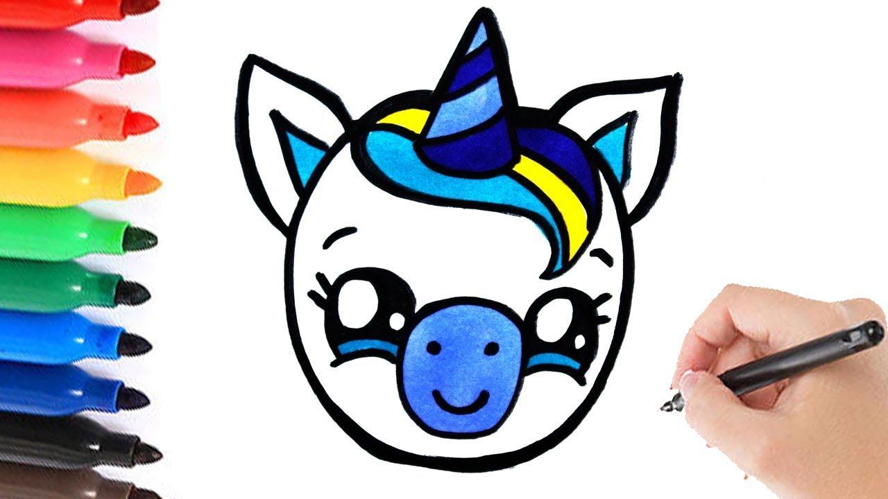 how to draw a baby boy unicorn leren tekenen eenhoorn