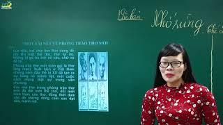 Ngữ Văn Lớp 8 – Bài giảng phân tích bài thơ Nhớ rừng của Thế Lữ ngữ văn 8  Cô Lê Hạnh Thơ mới