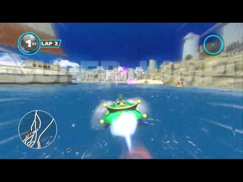 Sonic and Sega all star racing transformed: Outrun Bay with Pudding |