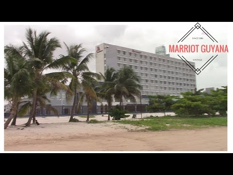 Marriot Hotel and Beach and the Umana Yana, Guyana (HD)