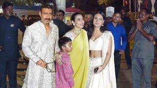 Ajay Devgan & Kajol With Family-Daughter Nysa & Son Yug Devgn@Bachchan's Deewali Bash 2019