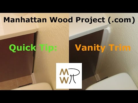 17 - Vanity Trim - Manhattan Wood Project