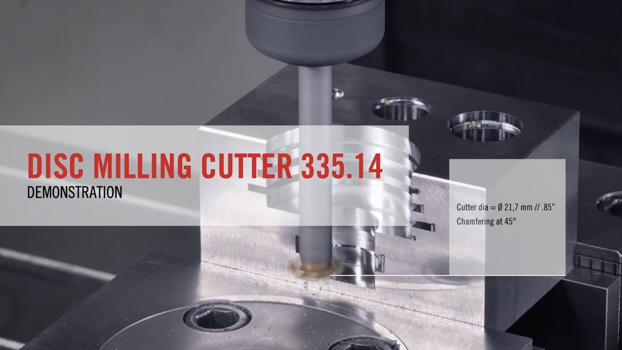 Disc Milling Cutter 335 14 Demonstration | SECO TOOLS