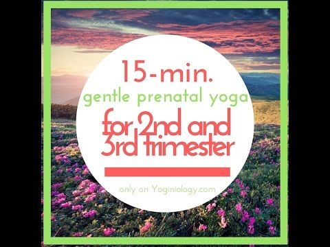 15 Minute Gentle Prenatal Yoga for Second and Third Trimester + Post-Natal