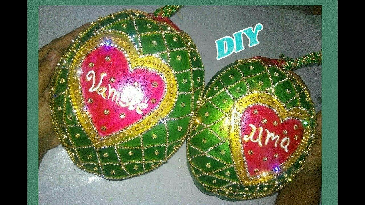 DIY Coconut / kobbaribondam decoration for wedding ...