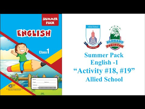 class-1-english-summer-pack-activity-#18-and-#19.-allied-school