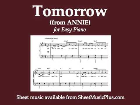 Tomorrow (from Annie) for Easy Piano