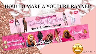 HOW TO MAKE A YOUTUBE BANNER *EASY*