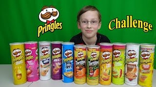 Pringles Challenge Video - 11 Flavors with CollinTV