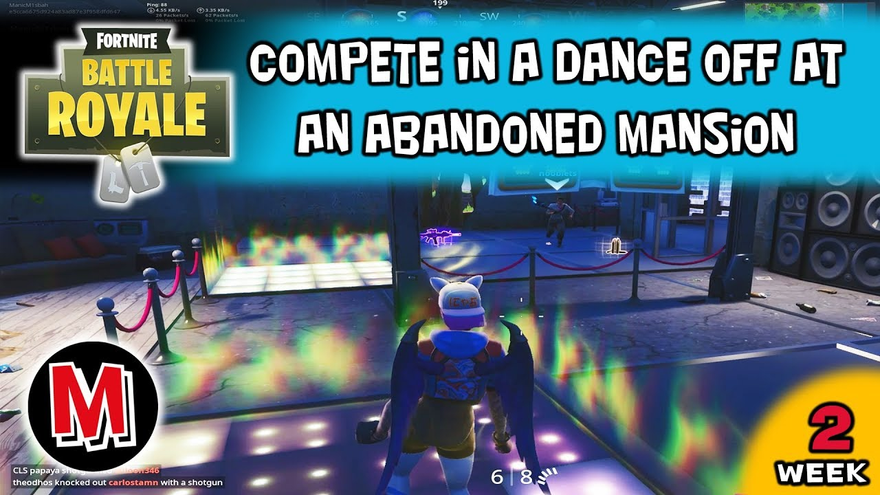 Compete In A Dance Off At An Abandoned Mansion Fortnite Season 7