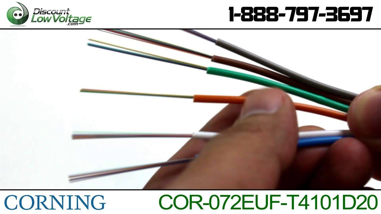 Corning Singlemode 72 strand 072EUF-T4101D20 in/outdoor fiber optic ...