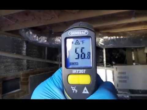 IES  radiant barrier crawlspace temp readings