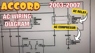 Honda Accord 2.4L 2003 to 2007 AC Compressor wiring diagram, relay and fuse  explained - YouTube | Hvac Wiring Diagram For 2004 Honda Accord Lx |  | YouTube