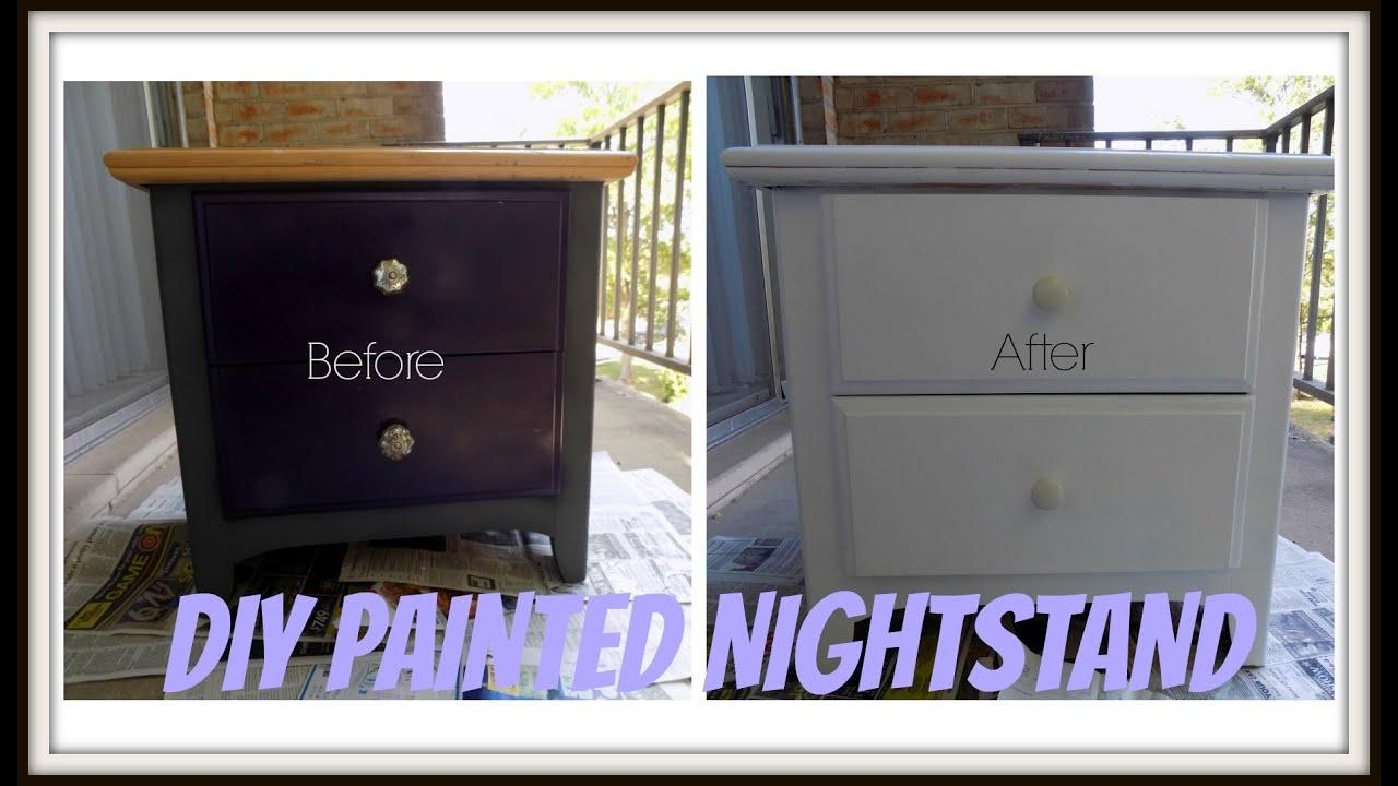 diy painted nightstand youtube