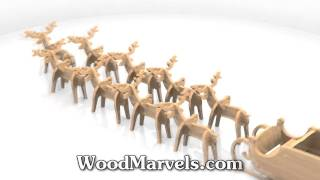 Santa's Sled And Reindeer Cnc: 3d Assembly Animation (720hd)