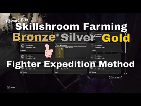 LET IT DIE Skillshroom Farming Method Bronze,Silver and Gold by Sending Fighters on Expeditions