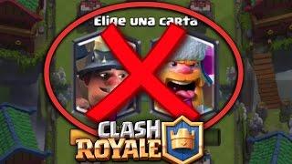 """¡¿Que pasa si """"NO ELEGIMOS CARTA"""" en el NUEVO DESAFIO?! Clash Royale [XHEO]"""