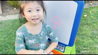 Kid FUN Learning: Vtech DiGiART Creative Easel Draw Objects (Sophia LG age 4)