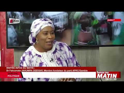 Download Dr Fatoumata JAHUMPA CEESAY, membre fondateur du.... invité dans infos du matin du 20 Octobre 2021