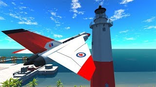 BeamNG drive - Top 10 Airplane Crashes You Can't Survive