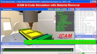 G-Code Simulation using Control Emulator from ICAM Technologies, cnc g-code simulation, verification