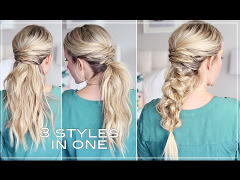 THREE easy hairstyles!