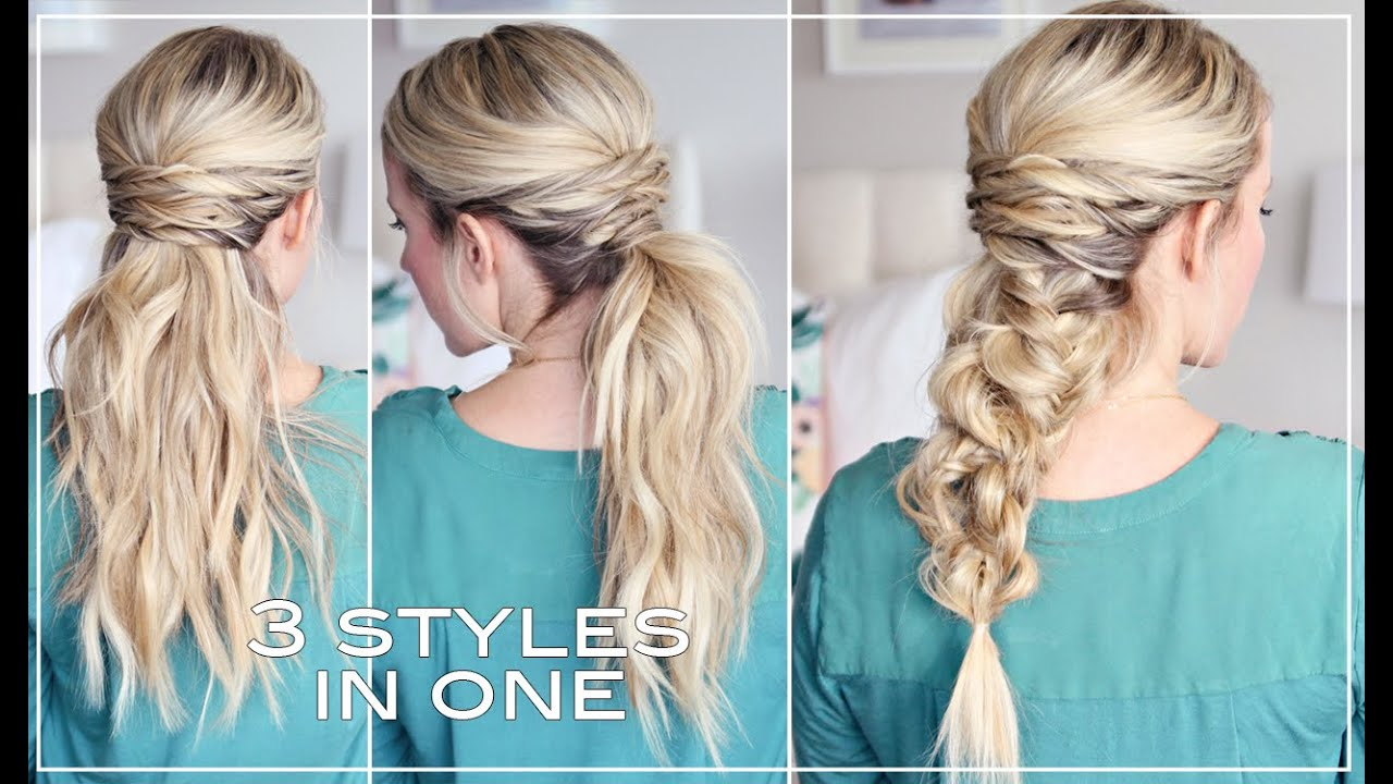 three easy hairstyles