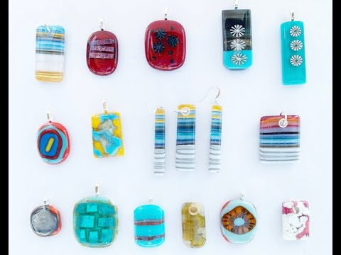 Fused Glass Reaction Month Jewellery