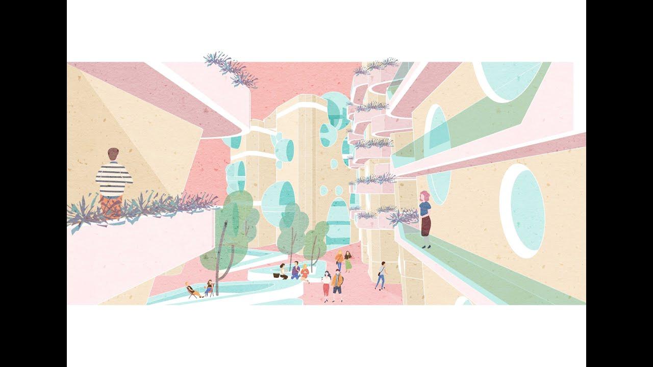 【建筑插画】如何五分钟快速出插画风格的效果图