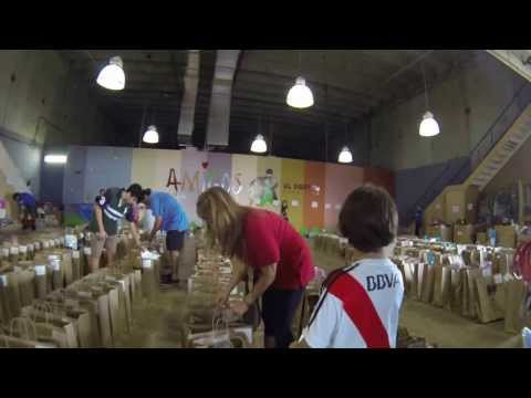 Giorgio Fraguio (7 years old) at Amigos For Kids Toy Sorting 2013