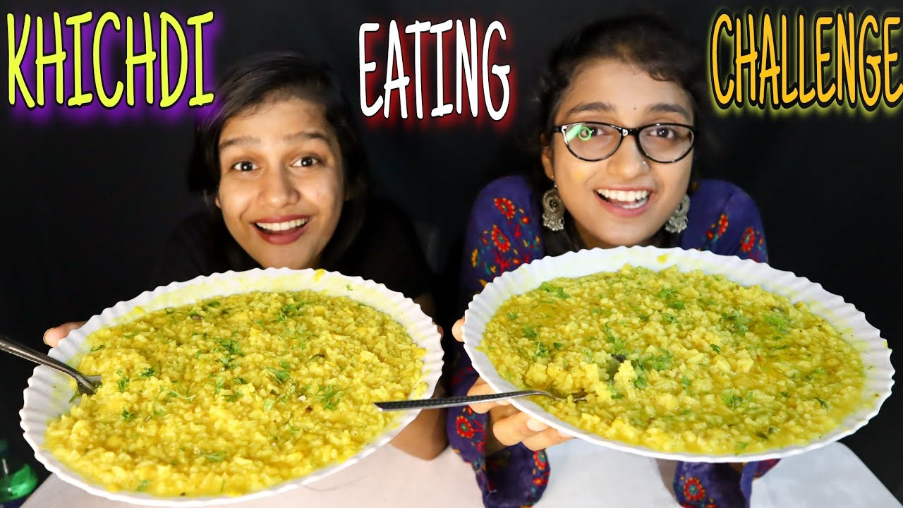 Desi Style Khichdi Eating Challenge | Dal khichdi Eating Competition | Food Challenge