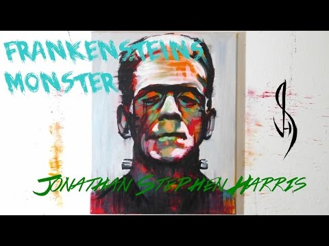 Speed Painting Frankensteins Monster - Contemporary Modern Art Style