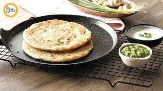 Hara Lehsun paratha Recipe By Food Fusion