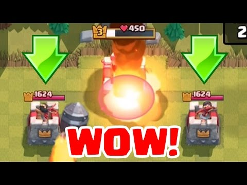 KING TOWER DESTROYED FIRST?! | Clash Royale | Noob Troll In Goblin Arena