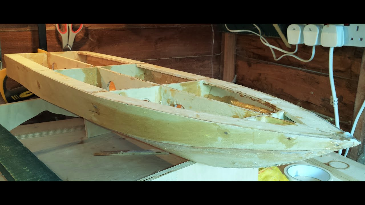 RC Boat - Homemade - Part 7 - Fibreglassing - YouTube