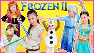 KIDS COSTUME RUNWAY SHOW with FROZEN 2 Elsa Anna Olaf, Toy Story 4, Disney Princesses and MORE!