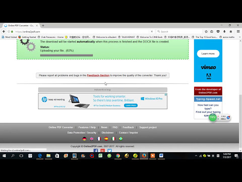How to Convert PDF to Word from YouTube · High Definition · Duration:  1 minutes 58 seconds  · 6,000+ views · uploaded on 1/23/2017 · uploaded by SodaPDF